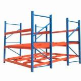 Customized angle steel slotted rivet rack light duty boltless warehouse storage iron shelving