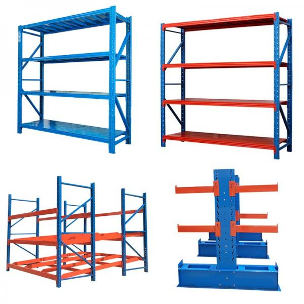light duty 4 layer storage rack for warehouse cold rolled steel shelves #3 image